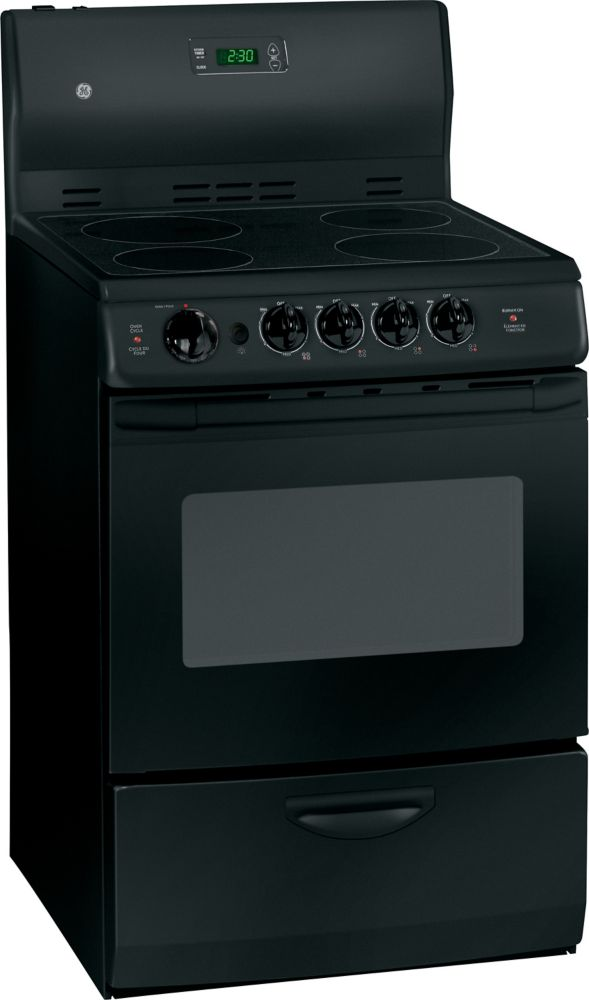 3.0 cu. ft. Electric Free-Standing Range in Black