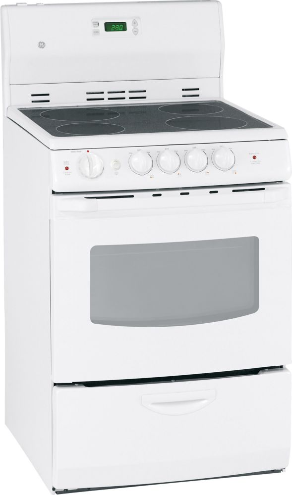 3.0 cu. ft. Electric Free-Standing Range in White