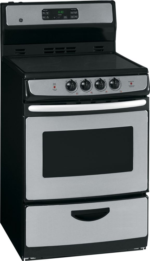 3.0 cu. ft. Electric Free-Standing Self-Cleaning Range in Stainless Steel