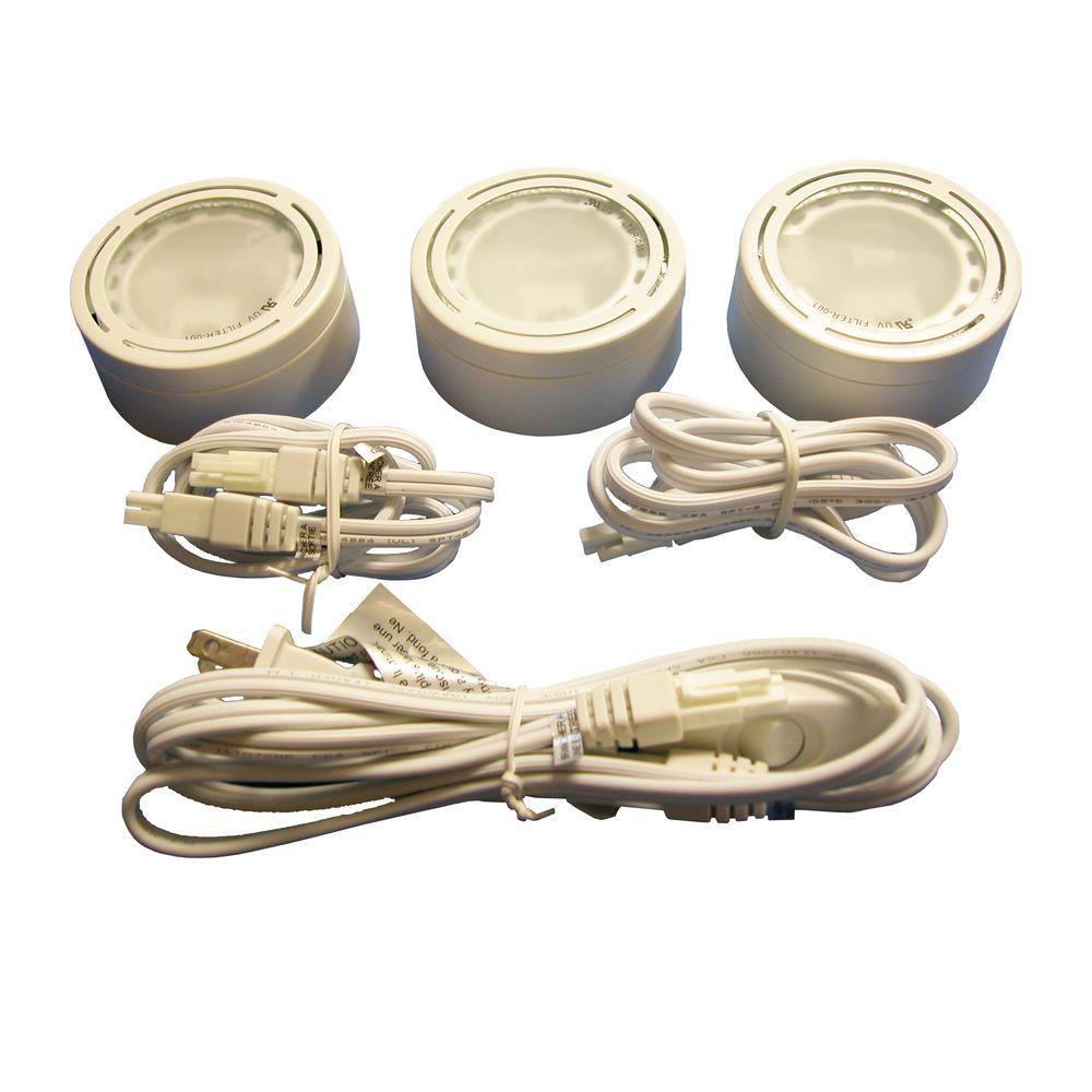 3 Xenon Metal Puck Kit, White