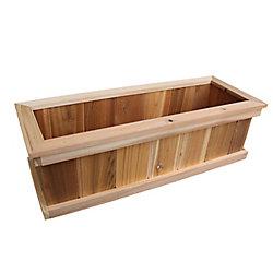 AIM Cedar Works 8-inch x 10-inch x 36-inch Premium Cedar Planter Box