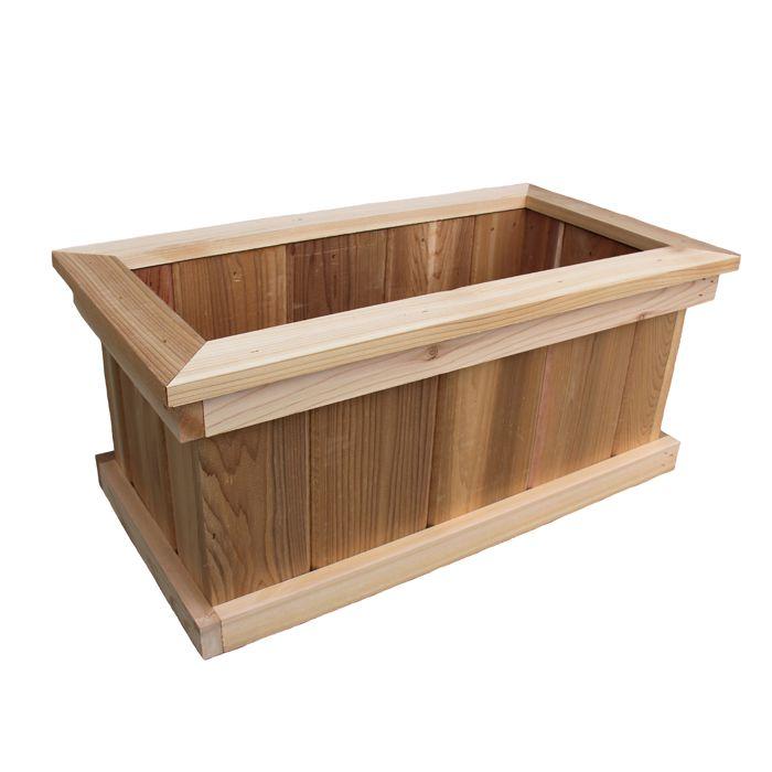 AIM Cedar Works 8-inch x 8-inch x 24-inch Premium Cedar Planter