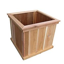 AIM Cedar Works 23-inch Premium Square Patio Planter