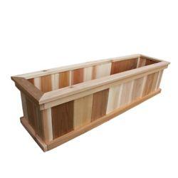 AIM Cedar Works 8-inch x 12-inch x 48-inch Premium Cedar Planter Box