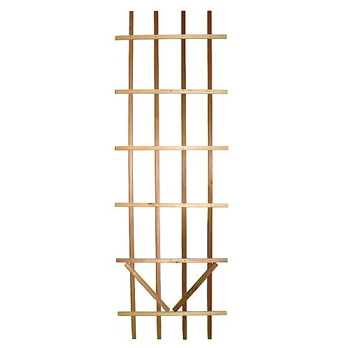 AIM Cedar Outdoor Premium Ladder 2 ft. x 6 ft. Trellis