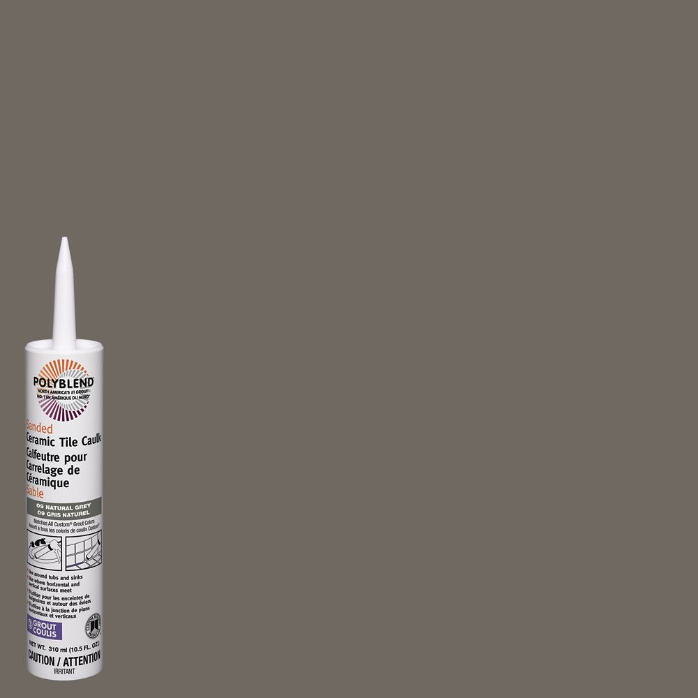 Polyblend Caulk Sanded Sanded #09 Natural Gray 310 ml CPC0910S-6 Canada Discount