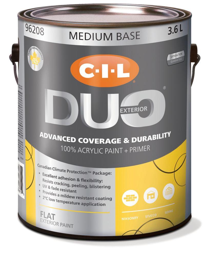 CIL Duo Exterior Flat Medium Base 3.6 L