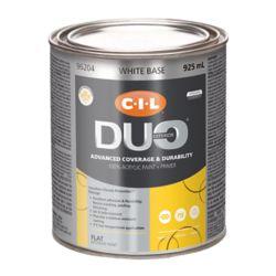 CIL Duo Peinture d'extérieur CIL DUO fini mat - Base blanche, 925 mL