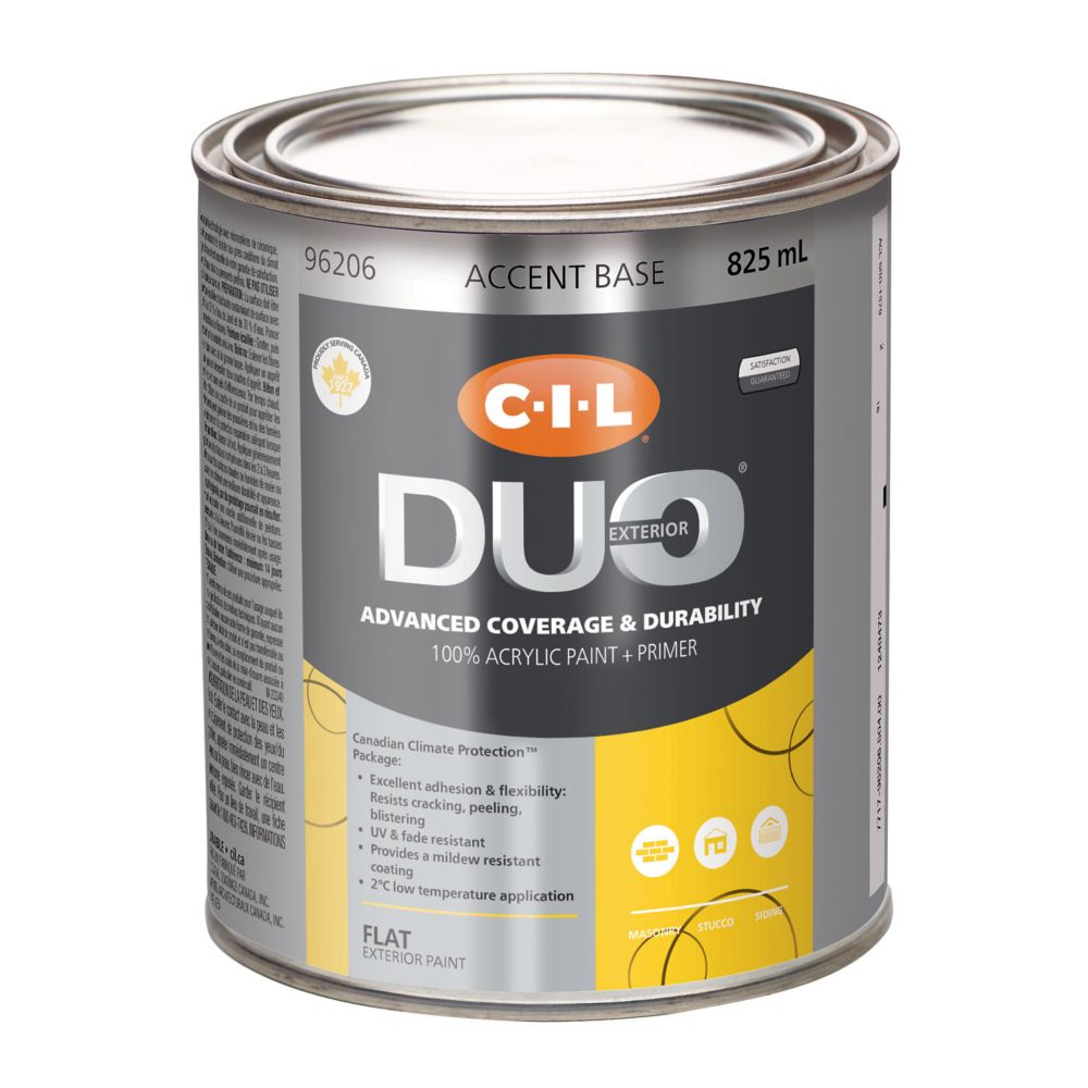 CIL Duo Exterior Flat Accent Base 825 mL
