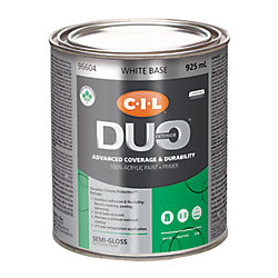 CIL Duo Exterior Semi-Gloss White Base 925 mL