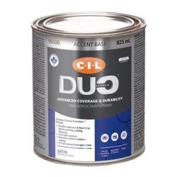 CIL Duo Peinture d'extérieur CIL DUO fini satiné - Base accent, 825 mL
