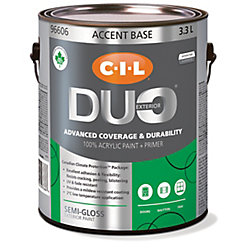 CIL Duo Exterior Semi-Gloss Accent Base 3.3 L
