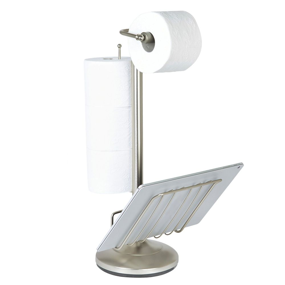 Porte-accessoires «the Toilet», nickel satiné