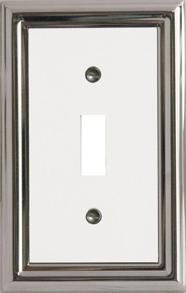 Plaque Murale Décorative Interrupteur Estate Chrome/Blanc