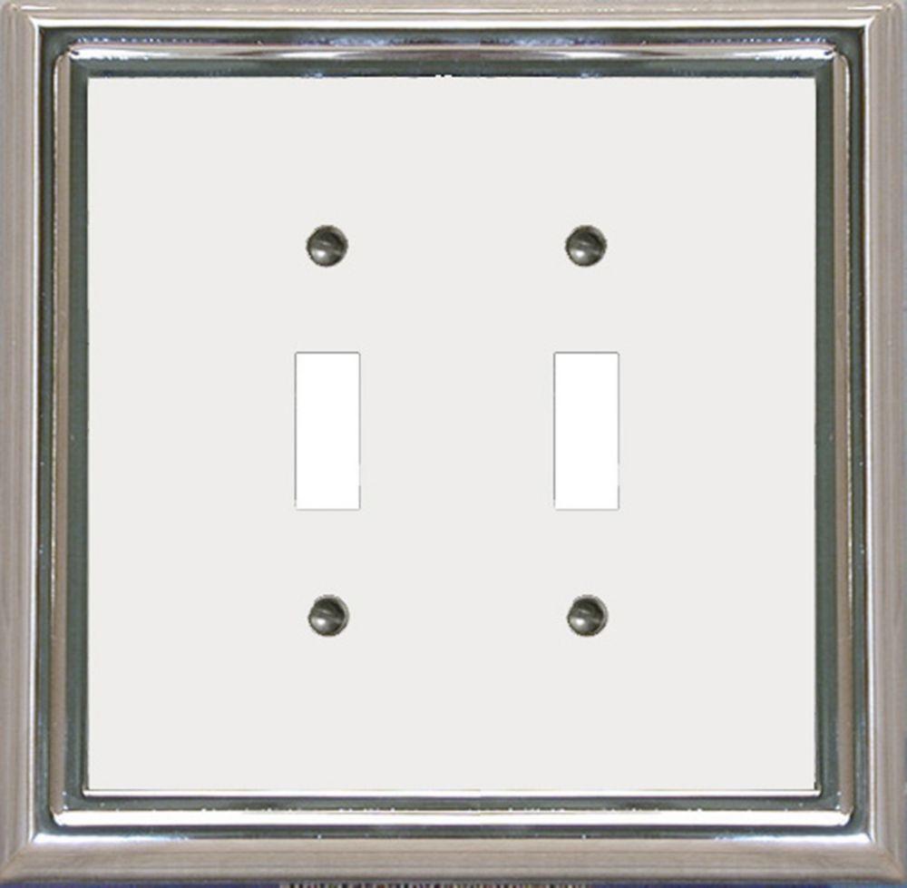 Plaque Murale Décorative Interrupteur Dbl Estate Chrome/Blanc