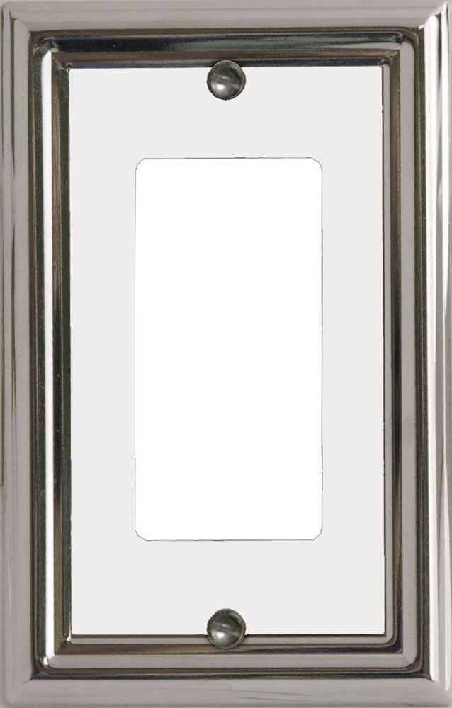 Plaque Murale Décorative Décor Estate Chrome/Blanc