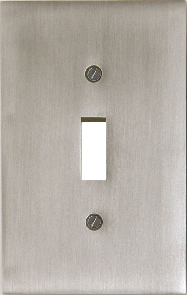 Atron plaque murale d corative interrupteur nickel satin for Plaque decorative murale