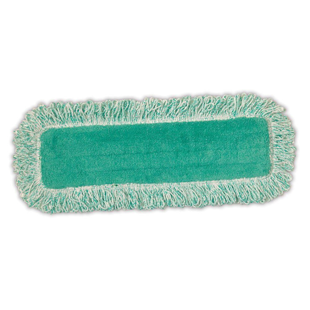 Tampon sec en microfibres de 18po avec franges