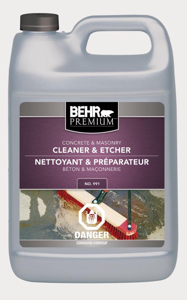 BEHR PREMIUM Concrete & Masonry Cleaner & Etcher, 3.79 L
