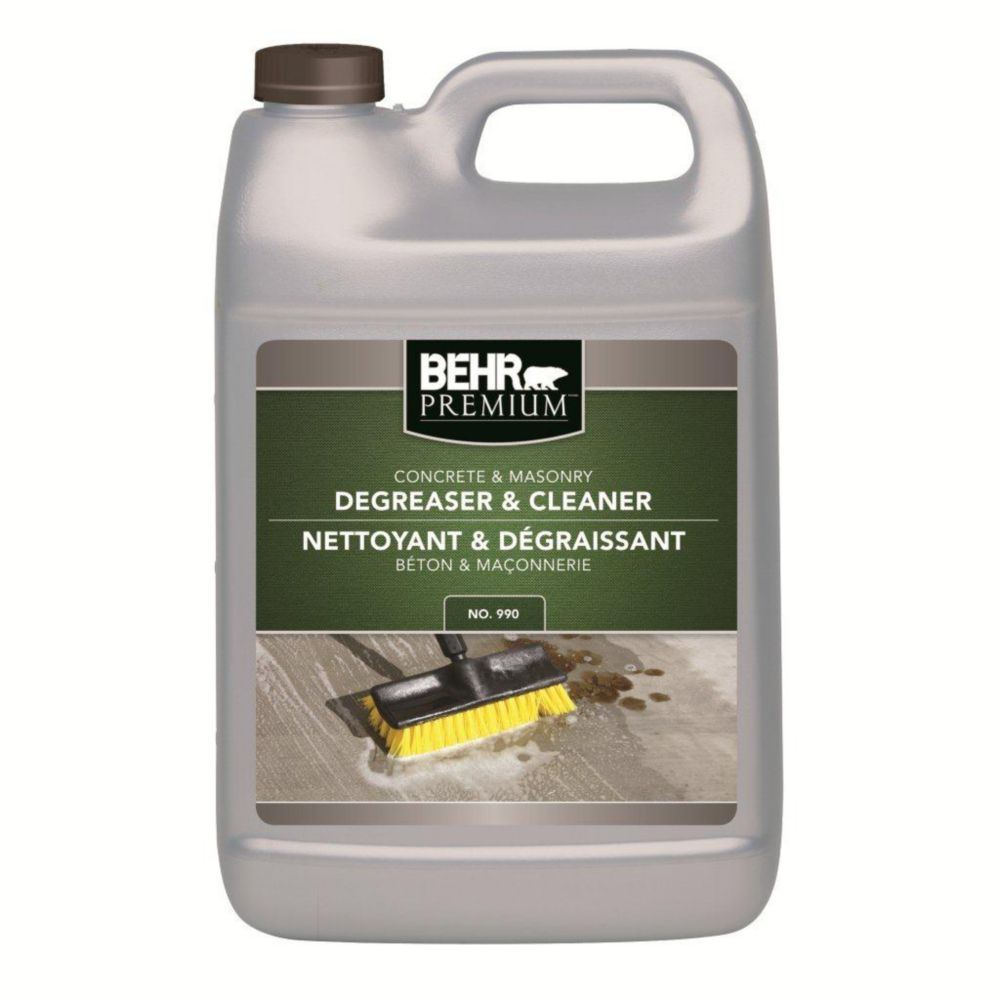 Behr concrete masonry degreaser cleaner the home for Best degreaser for concrete