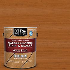 Premium Semi-Transparent Weatherproofing Wood Stain, Cedar Naturaltone, 3.79 L