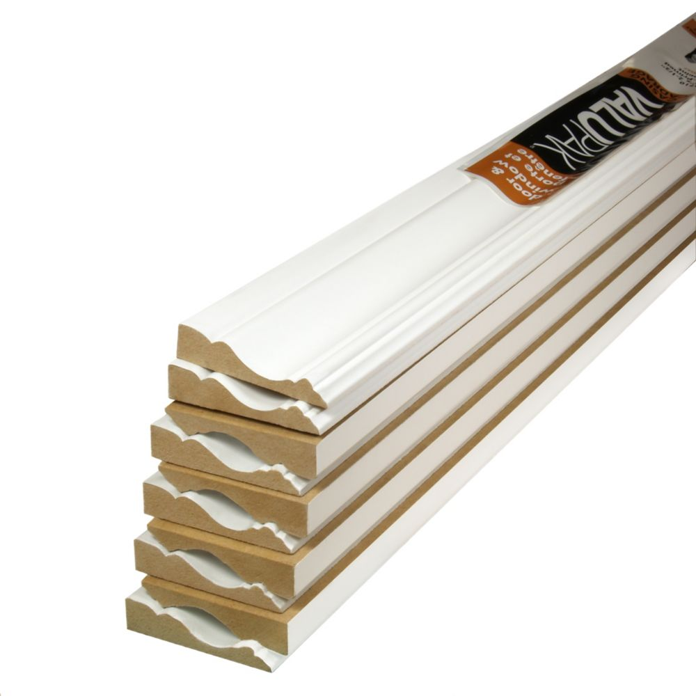 Primed Fibreboard Casing ValuPAK 5/8 In. x 2-1/2 In. x 7 Ft. (10 Pieces)