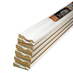 Primed Fibreboard Casing ValuPAK 5/8 In. x 2-1/2 In. x 7 Ft. (10-Piece)