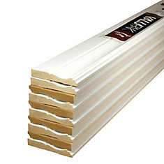 Primed Fibreboard Base ValuPAK 1/2 inch x 3-1/4 inch x 8 ft. (10-Piece)