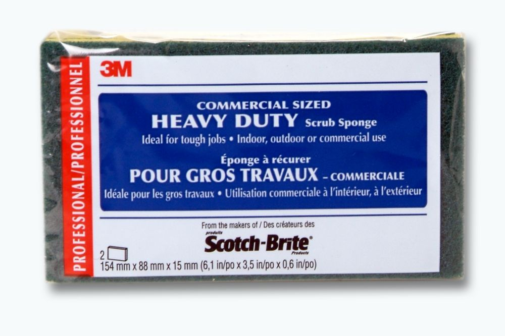 3M COMMERCIAL SIZED HEAVY DUTY Scrub Sponge