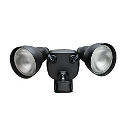 Defiant 270 Degree Black Motion Sensing Security Light
