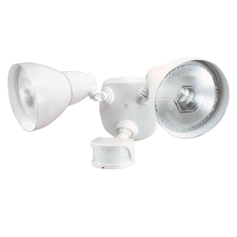 Luminaire de sécurité à détecteur de mouvement de 270 degrés - blanc