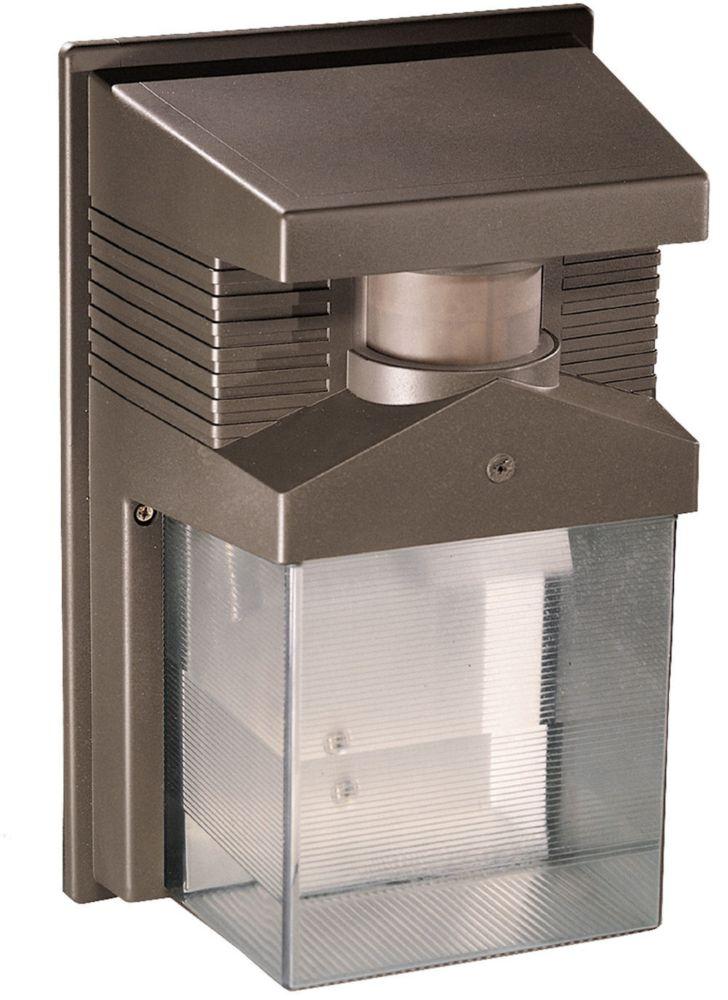 Luminaire de sécurité à détecteur de mouvement à halogène de 180 degrés- bronze
