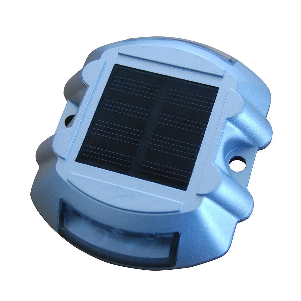 Solar LED Dock and Deck Light with Rechargeable Battery