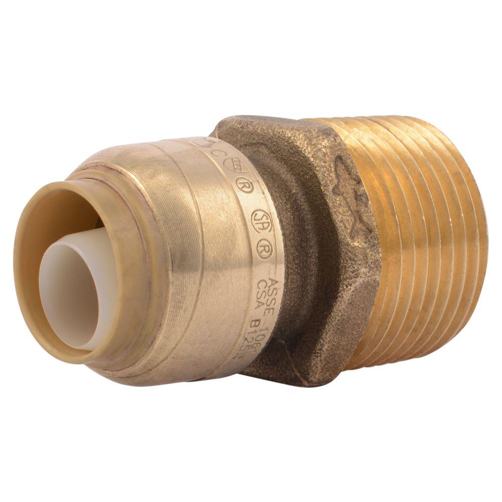 Sb Connector 1/2 Inch  X 3/4 Inch  Mnpt Rt Lf