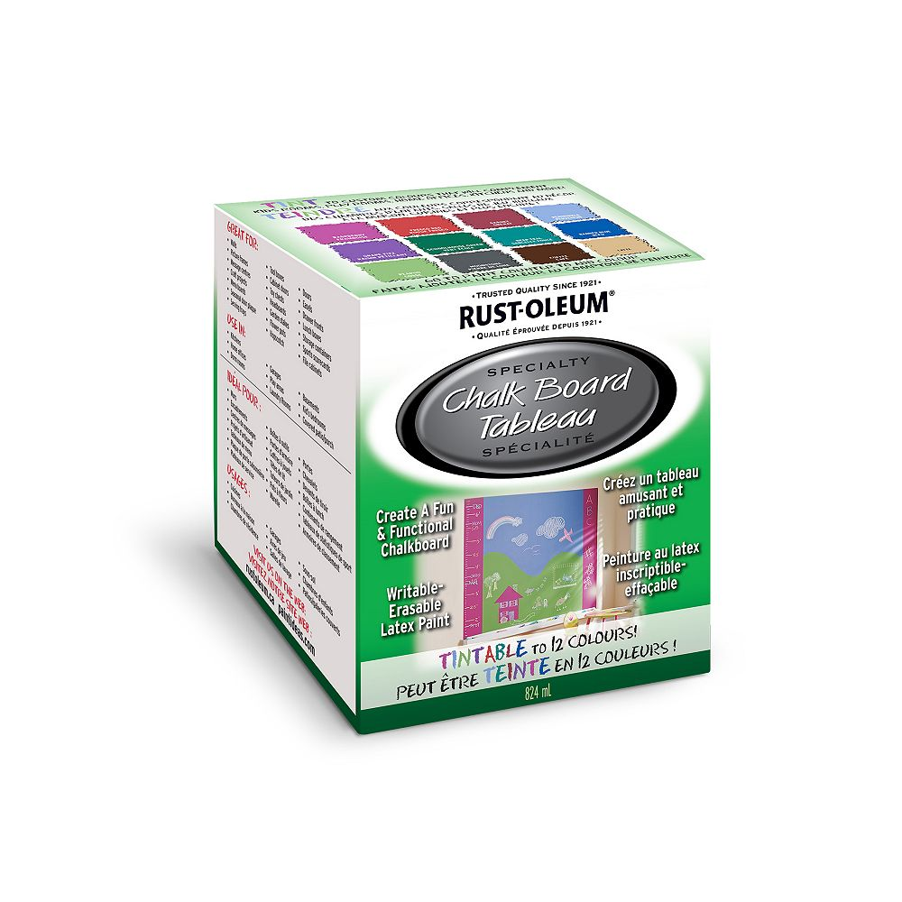Rust-Oleum Specialty Chalk Board Paint Tint Base, 824 mL