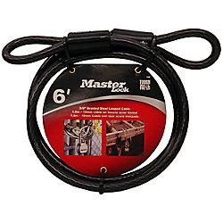 Master Lock Câble avec extrémité bouclée de 1,8 m (6pi) de longueur x 10mm (3/8po) de diamètre