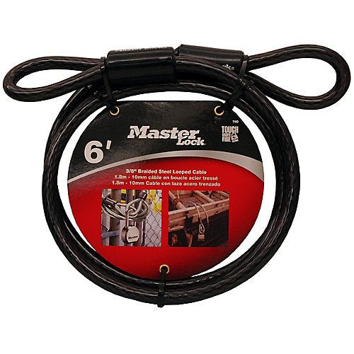 Câble avec extrémité bouclée de 1,8 m (6pi) de longueur x 10mm (3/8po) de diamètre