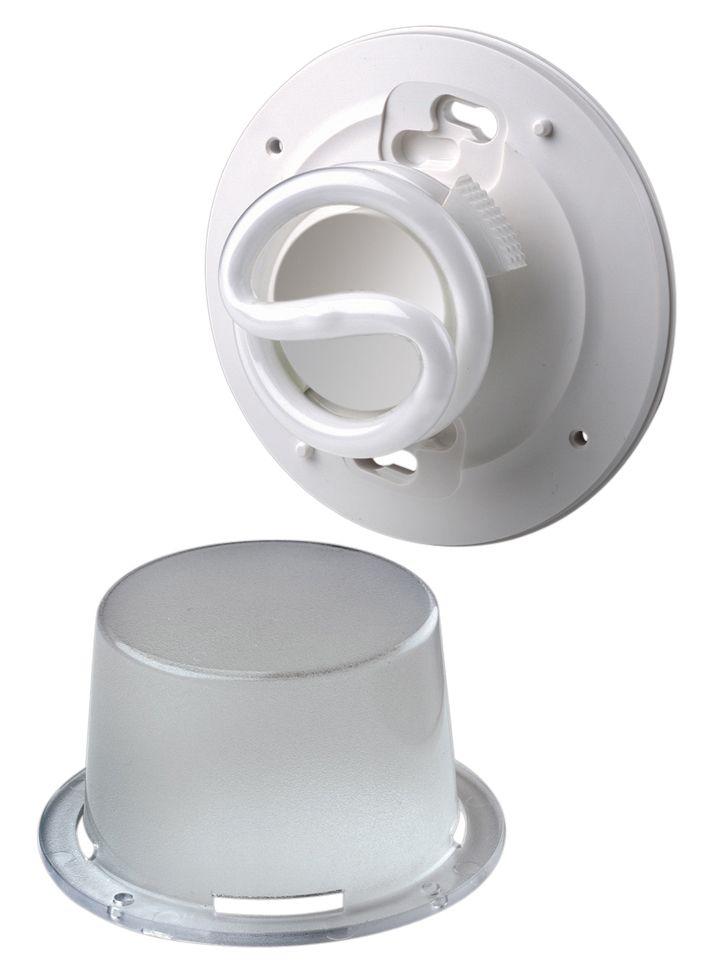 Douille fluorescente compacte, blanc