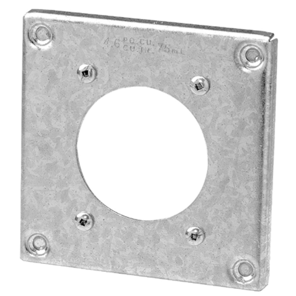 Square Box Raised Steel Cover � 4 Pouces