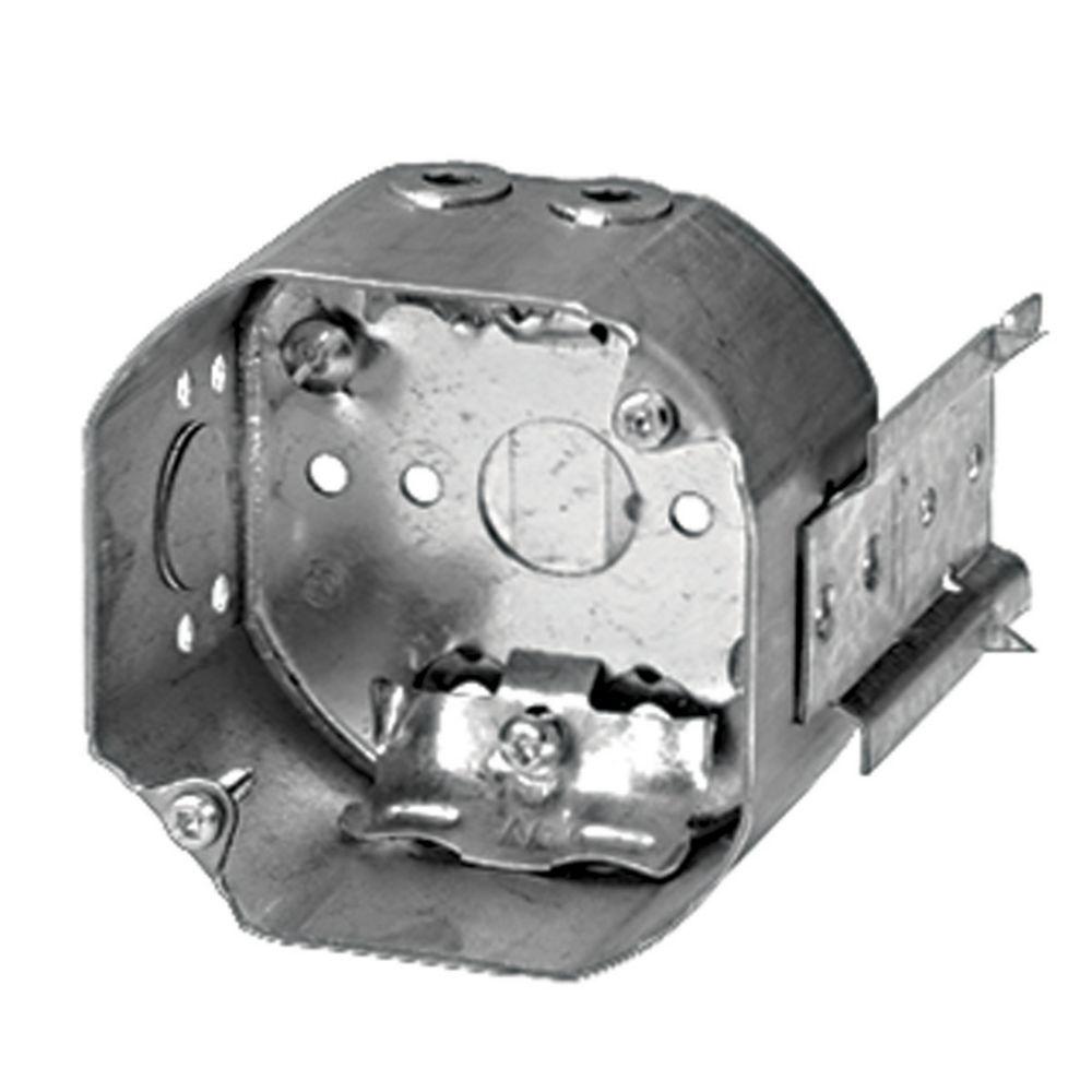 Boîte Octogonale En Acier avec Serre-Câble NMD90 � 2-1/8 Pouces