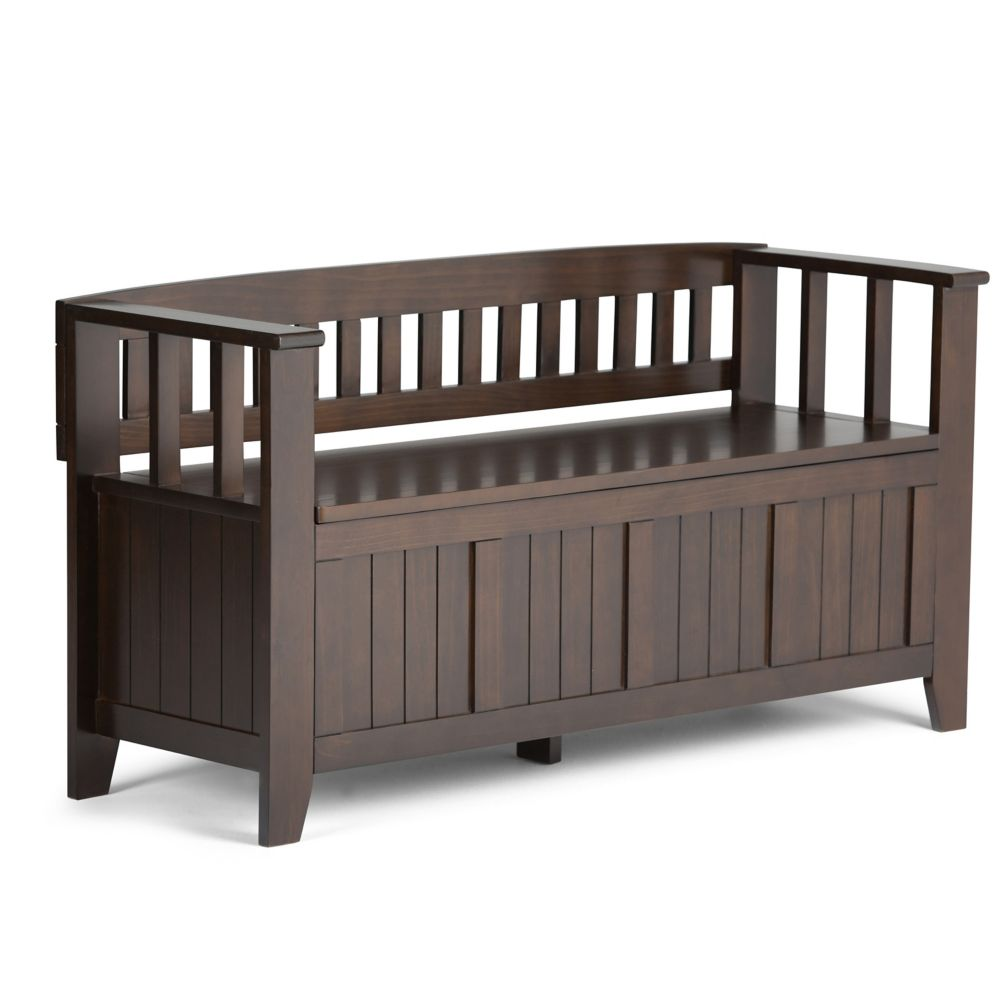 Acadian Collection Entryway Bench in Red Mahogany