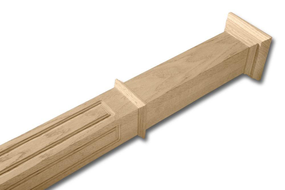 Oak Newel Post 2-7/8 In. x 2-7/8 In. x 49 In.