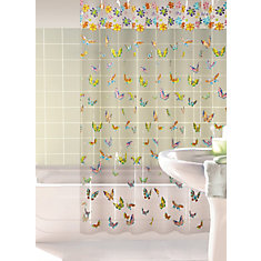 Lovely Butterflies Shower Curtain, Multi - 70 Inches x 72 Inches