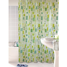 City Blocks Shower Curtain, Lime - 70 Inches x 72 Inches
