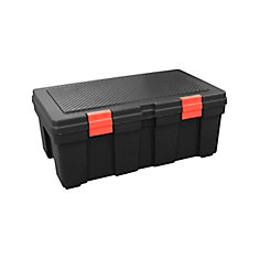 118L Storage Locker Black/Red Latches