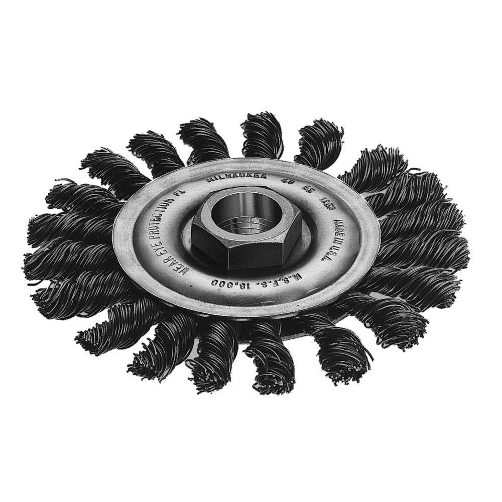 Milwaukee Tool 4-inch Stringer Bead Wheel in Carbon Steel