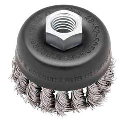 Milwaukee Tool 3-inch Hyperwire Knot Wire Cup Brush in Stainless Steel