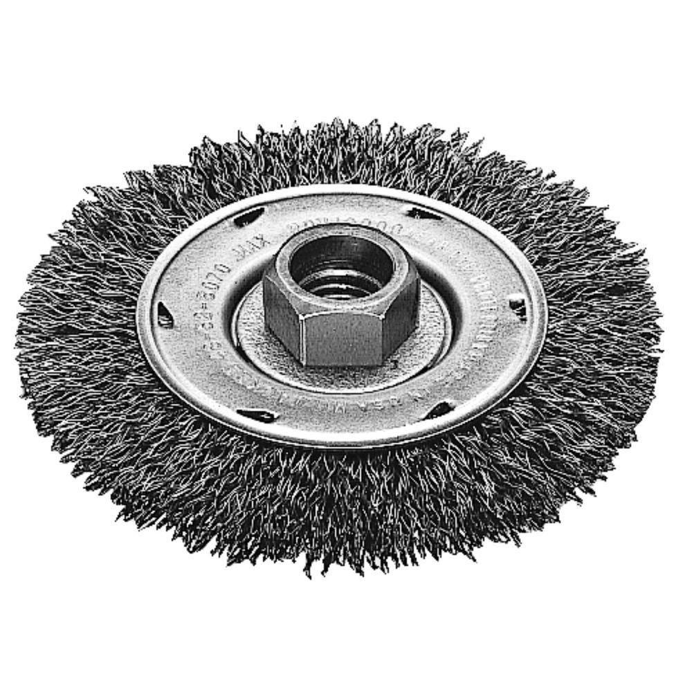 Meule radiale à fils ondulés de 4po - acier au carbone