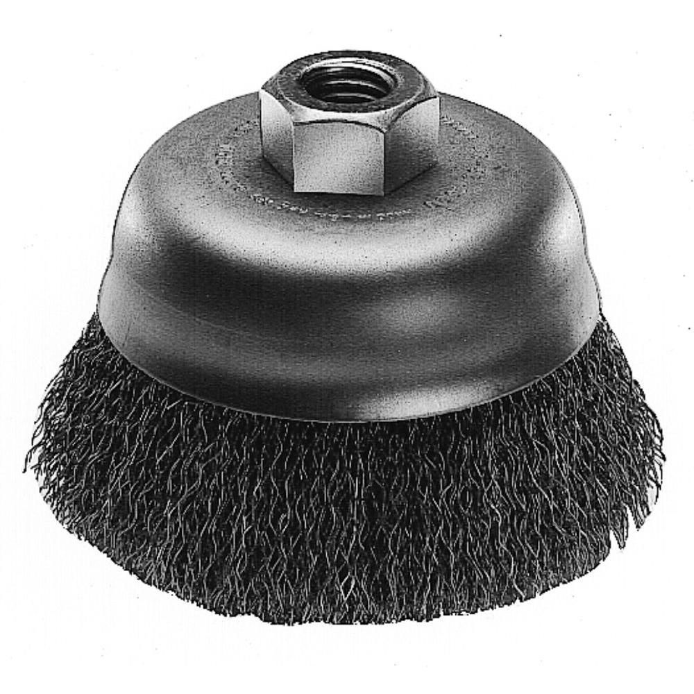 3-inch Hyperwire� Crimped Wire Cup Brush in Carbon Steel