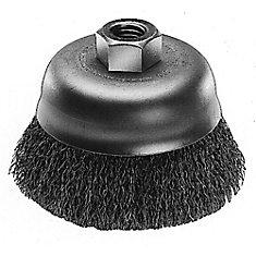Brosse coupelle à fils ondulés de 3po - acier au carbone